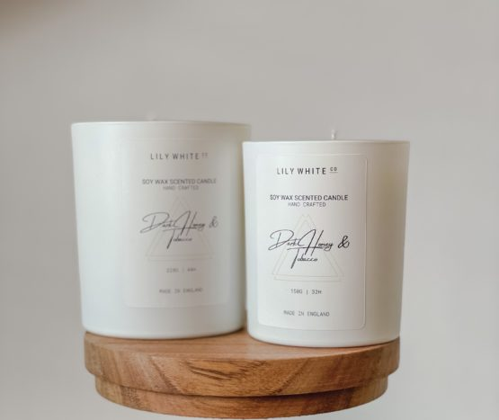 LWC Signature candle Dark Honey & Tobacco