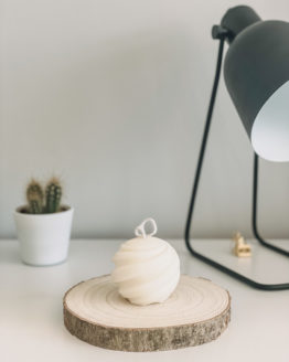 Lily White Co Sphere candle